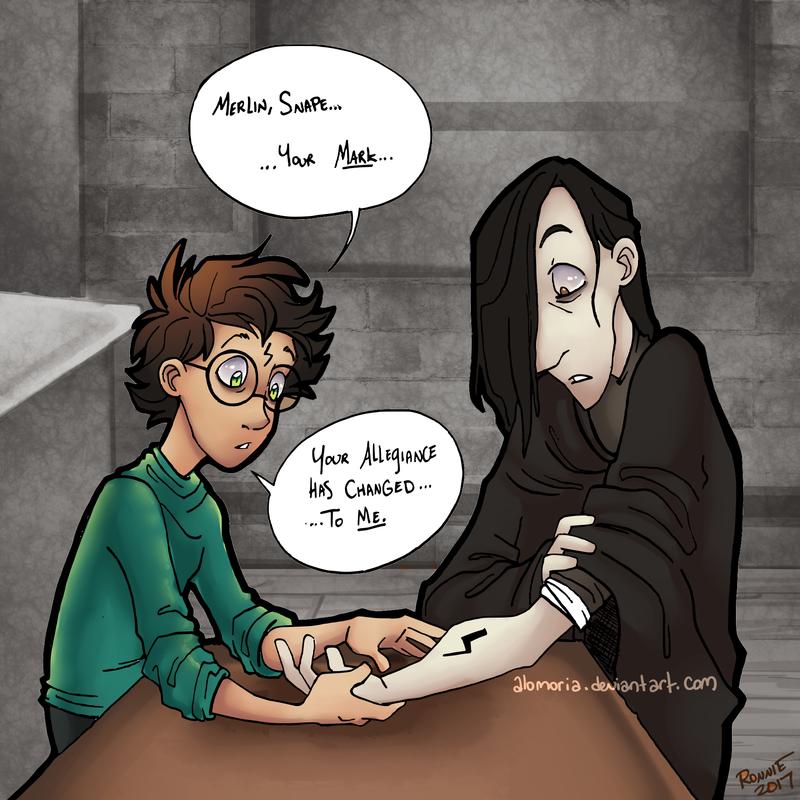 Allegiance Changed Harry Potter Severus Snape Harry Potter Artwork Harry Potter Comics