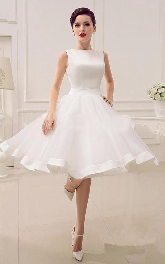 A-Line Sweetheart Sleeveless Backless Organza Dress-713652