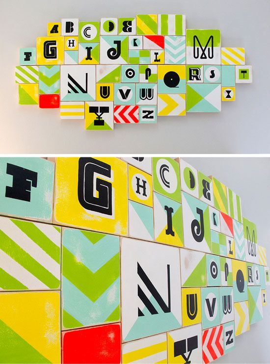 worth 1000 words: modern nursery alphabet blocks | Alphabet blocks ...