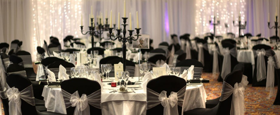 wedding chair covers black spandex covers Something Old