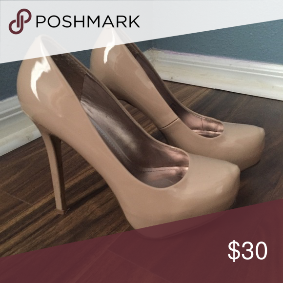 Steve Madden Heels Worn once for engagement photos. Small chip on the back of one shoe Steve Madden Shoes Heels
