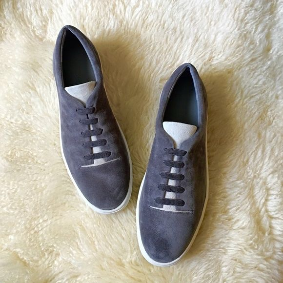 Vince Canyon Slip on Sneakers Brand new in box, comes with dust bag. Round toe. Faux lace up vamp. Suede upper. Manmade sole. Extremely comfy. Top stitching. No trades. Thank you. Vince Shoes Sneakers