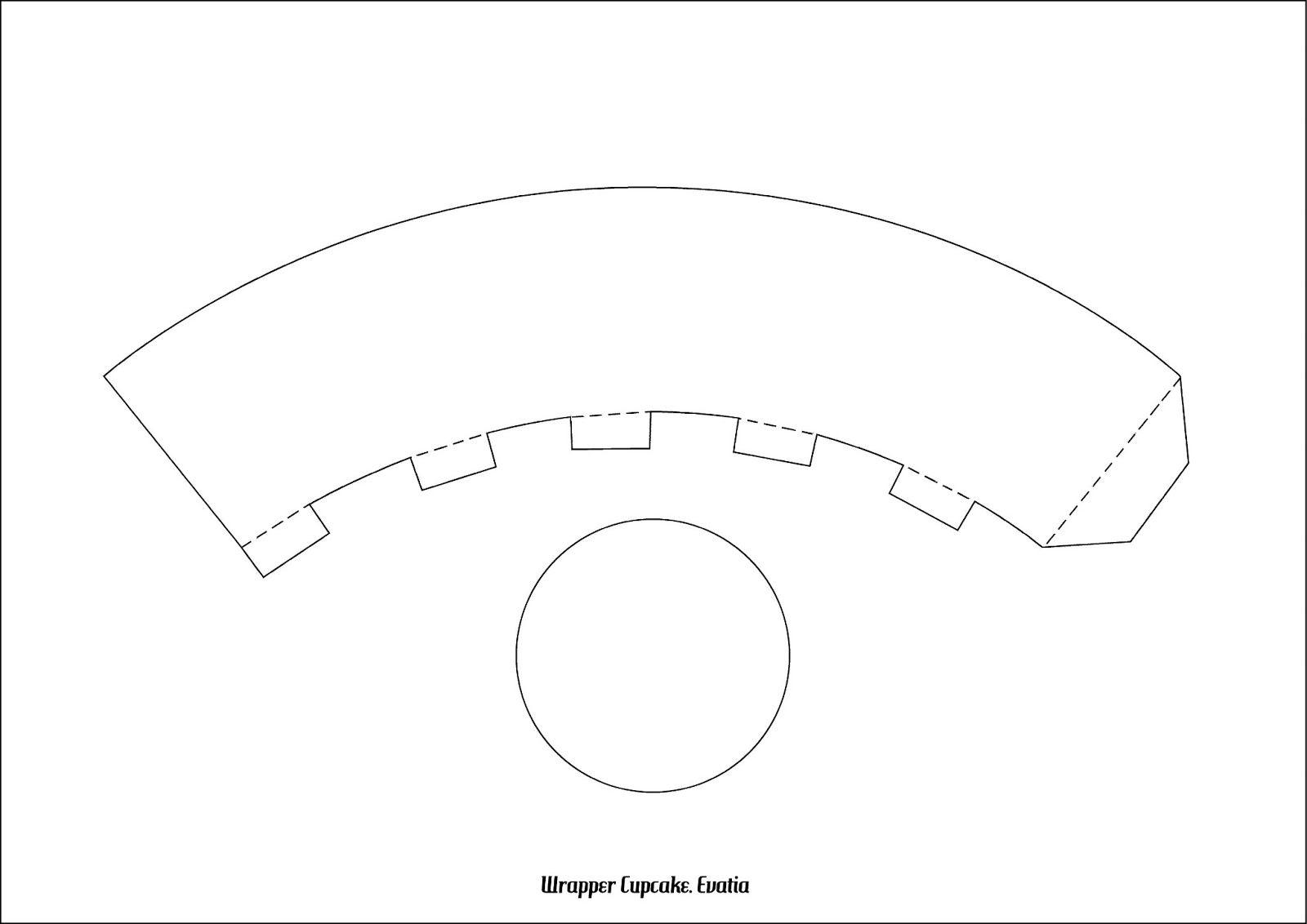 Plantilla para wrappers de cupcakes - Imagui | Papeles y plantillas ...