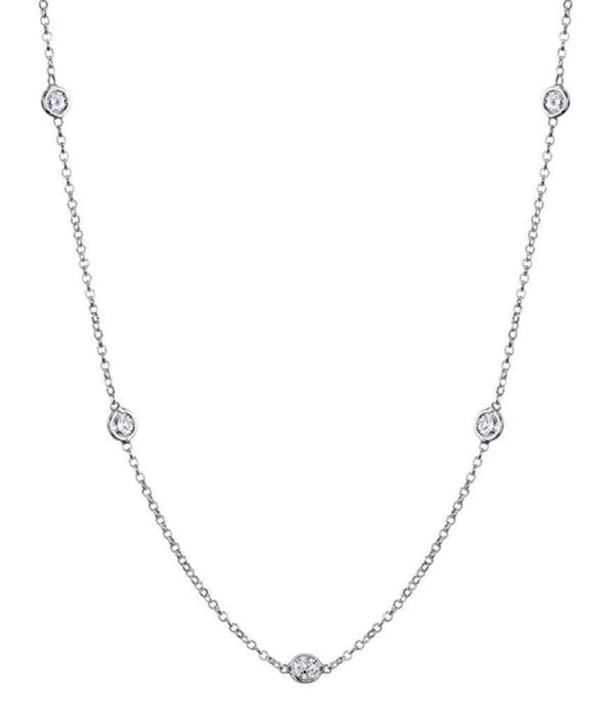 collier ras de cou or blanc et diamant