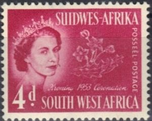Stamp Queen Elizabeth Ii South West Africa Coronation Issue Mi Na Sw 276 Sn Na Sw 246 Yt Na Sw 234 Stamp Book Cover West Africa