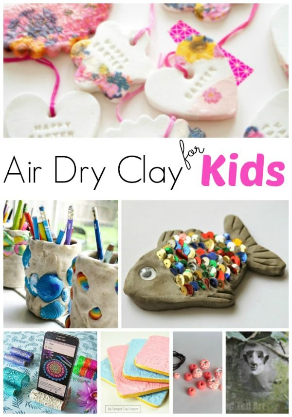 Air Dry Clay Projects For Kids Red Ted Art Make Crafting With