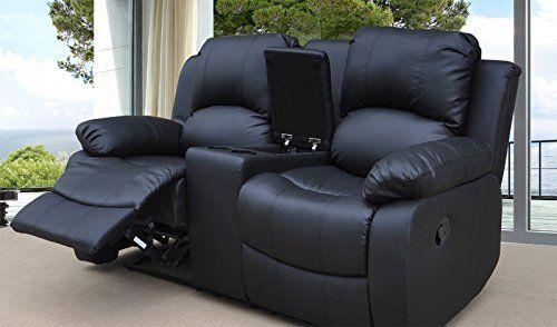 Lovesofas Valencia 2 seater bonded leather recliner sofa ...