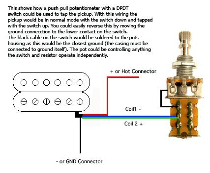 coil tap push/pull | guitar mods | pinterest | guitars coil tap wiring diagrams coil tap dimarzio wiring diagrams
