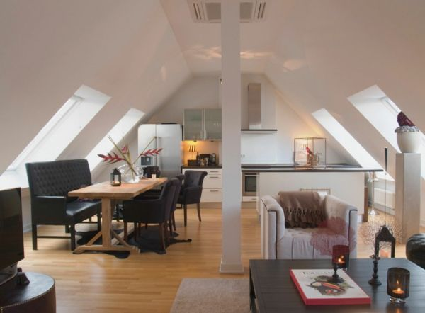 Gewagte Einrichtung für Penthouse Wohnung in der exquisiten Stadt ...