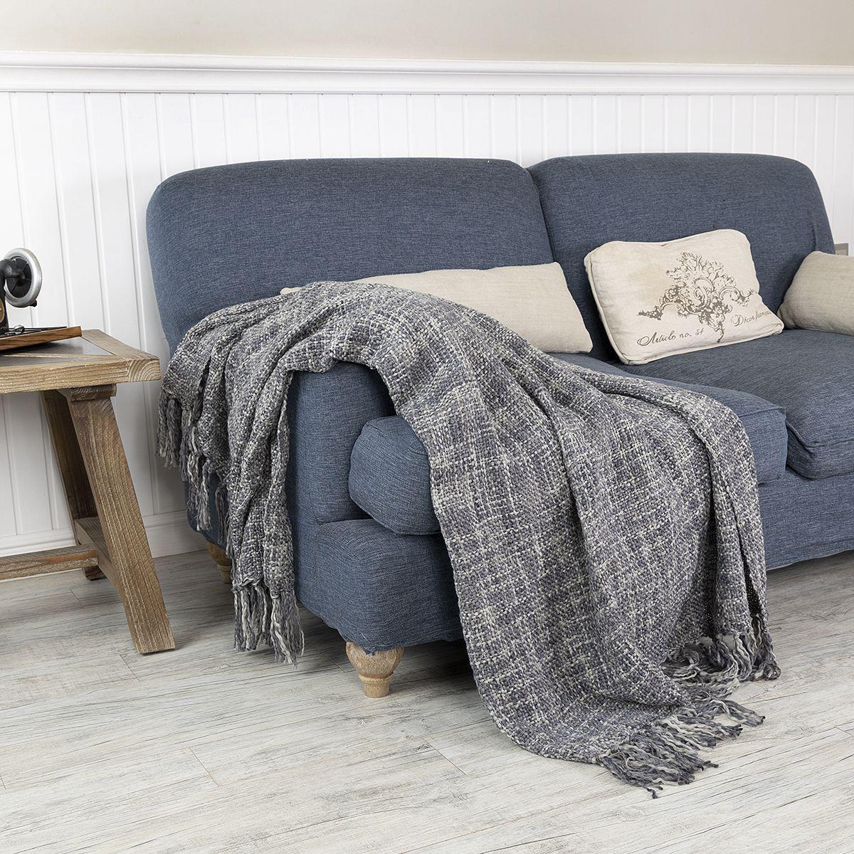 شال كنب لون رصاصي Sofa Covers Throw Blanket Blanket
