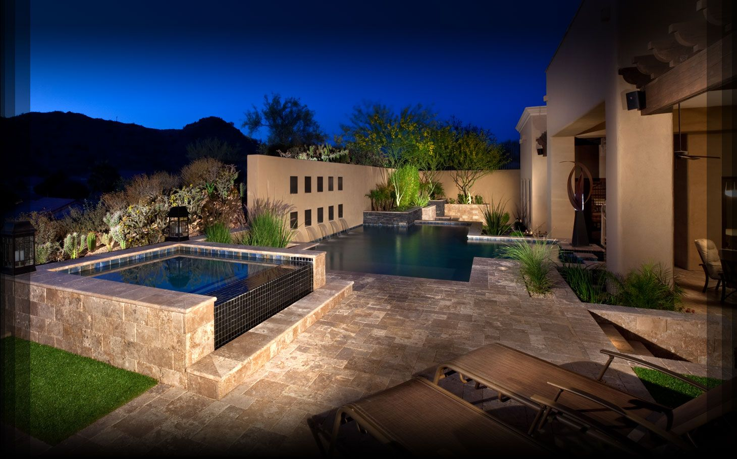 Before phoenix landscaping design phoenix pool for Pool design az