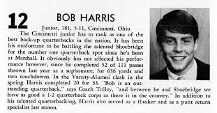 Bob Harris 12 Marshall University Marshall Marshall University Football