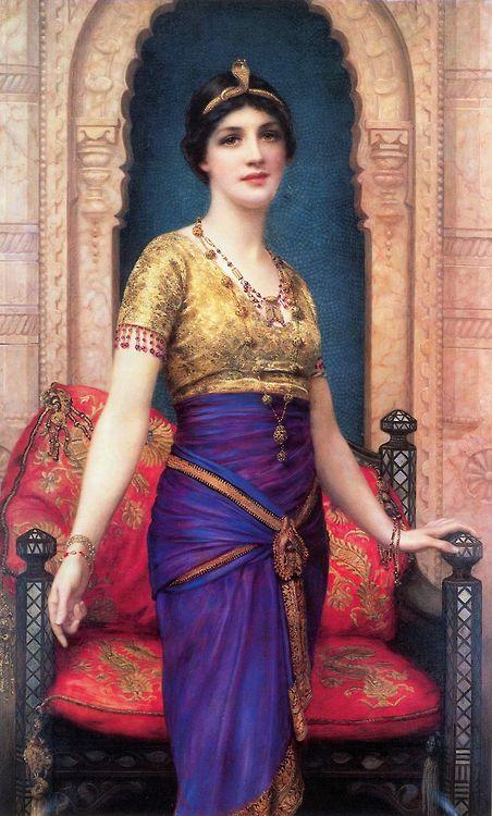 maudelynn:  An Egyptian Beauty ~ William Clarke Wontner viahttp://e-vint.com
