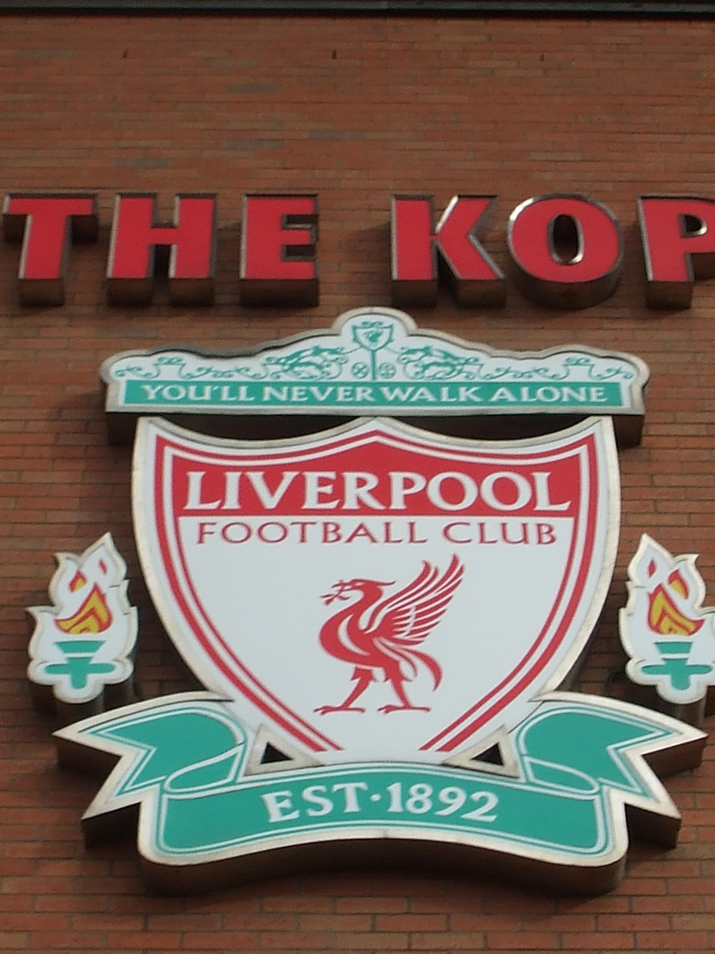 THE KOP & Liverpool crest, Anfield