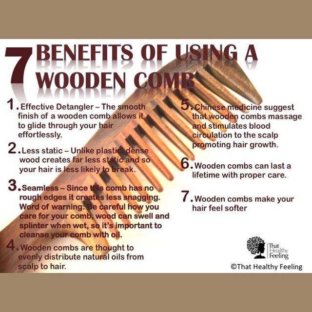 7 Benefits Of Using A Wooden Comb Comb For Curly Hair