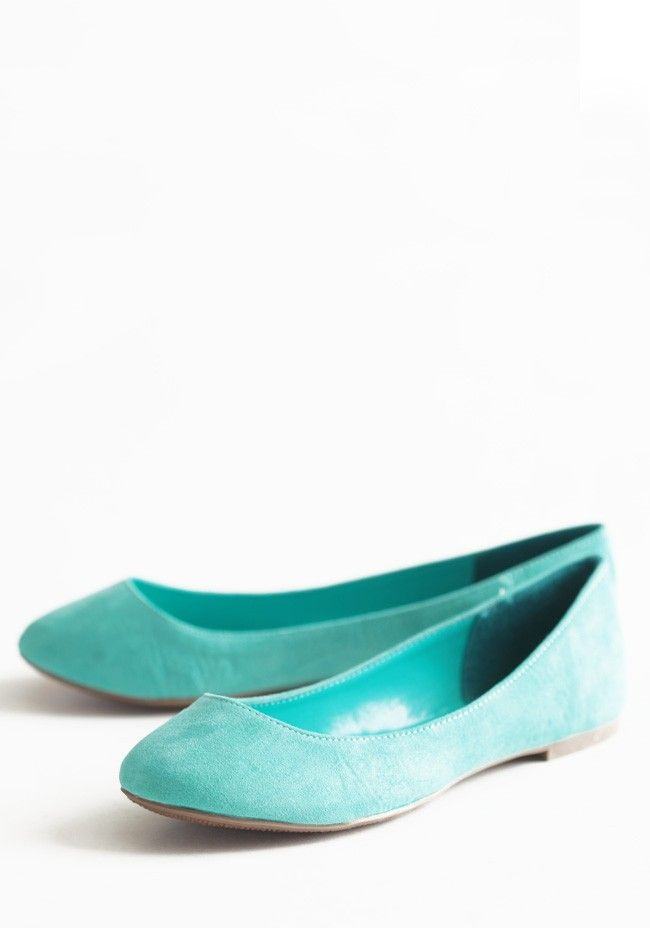 Seafoam Darling Flats | Modern Vintage Shoes >> Oh I love the color and simple flat style!