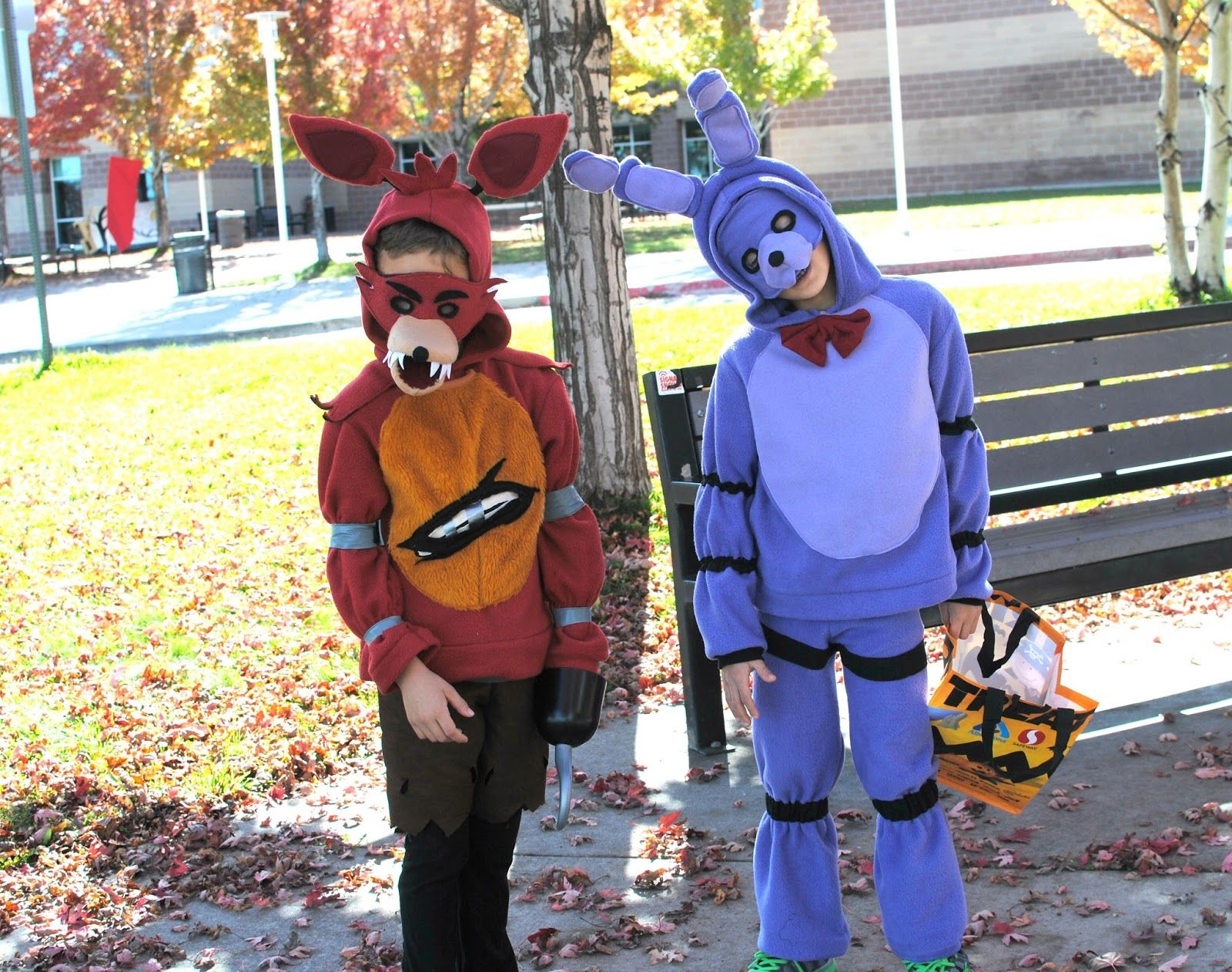 Fnaf bonnie costume for sale - Foxy And Bonnie Diy Halloween Costumes Fnaf