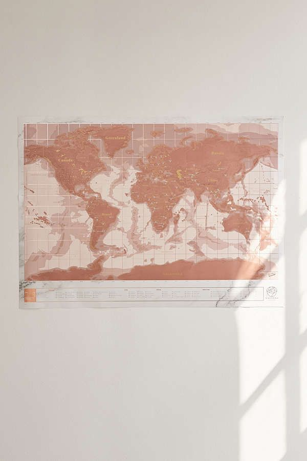 Rose gold scratch off world map gallery wall room decor and room slide view 2 rose gold scratch off world map want want world mapsgallery walldream gumiabroncs Gallery