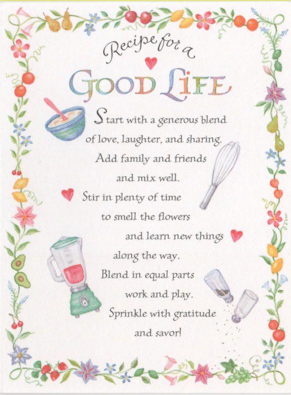 recipe of life quote , Google Search