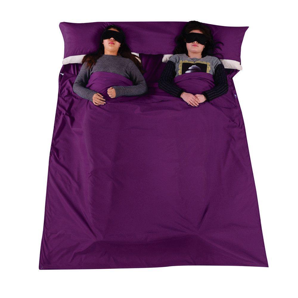 el dirty cotton separator Sleeping Bag Liner Single Double Envelope Bags Ultra-Light Portable Travel Camping Equipment