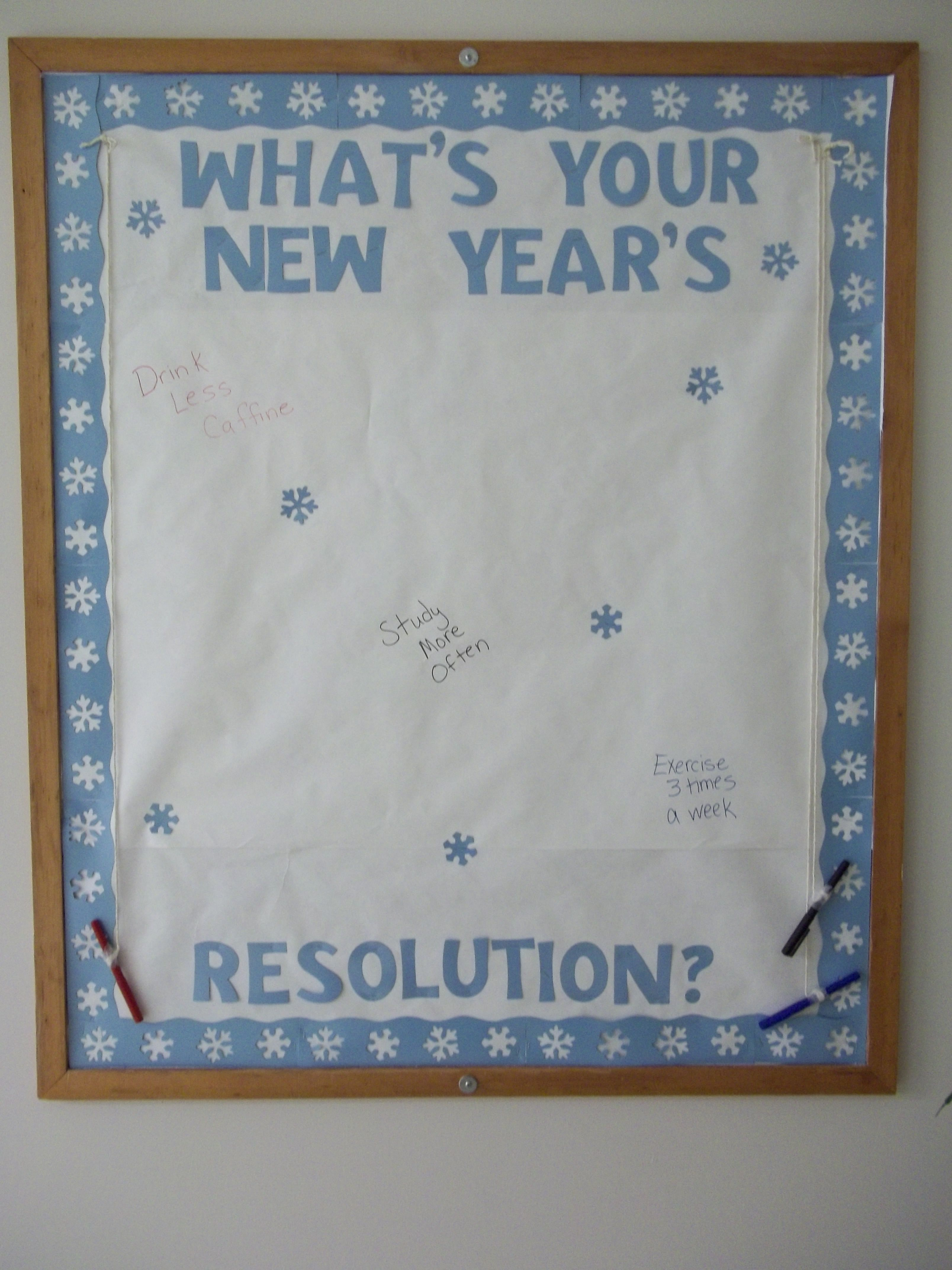 What's Your New Year's Resolution? Bulletin board Winter