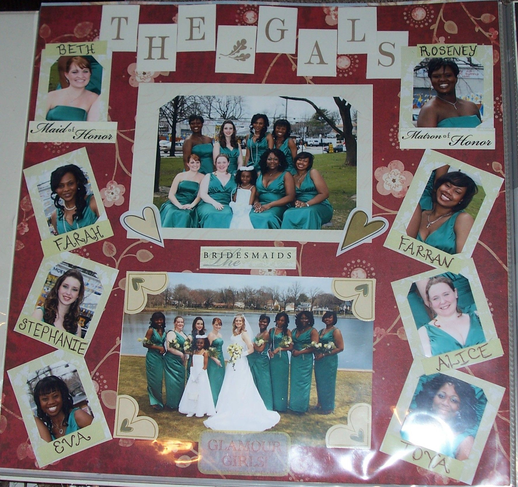 the bridesmaid's page Wedding