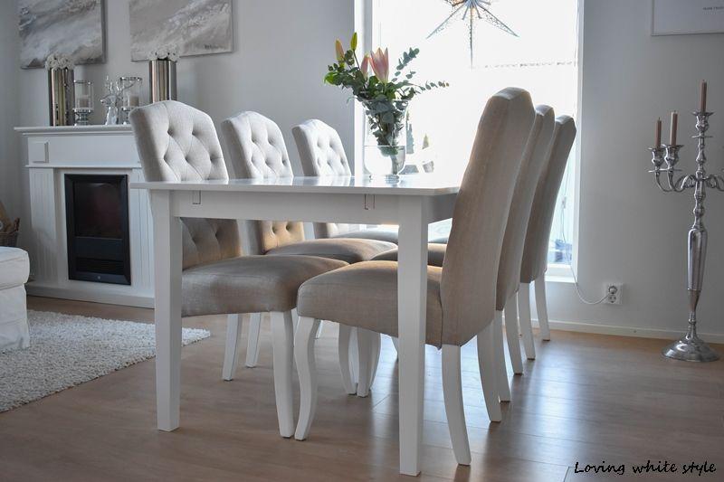 Loving white style: UUDET UPEAT RUOKAPÖYDÄN TUOLIT