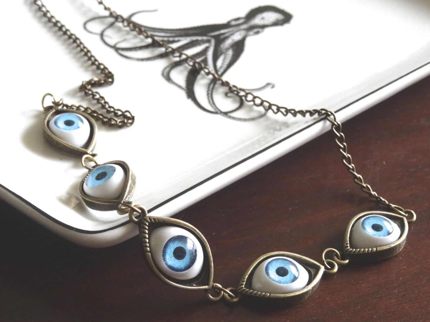 observant jessi eyeball necklace by taylor necklaces ori