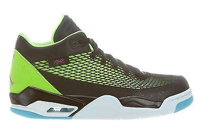 538ef9375e6dda Nike Jordan Flight Club 80 s Mens 599583-032 Black Lime Basketball Shoes  Size 11