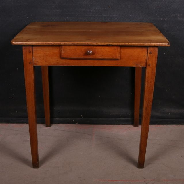 french cherry side table19th c french antique cherry side table