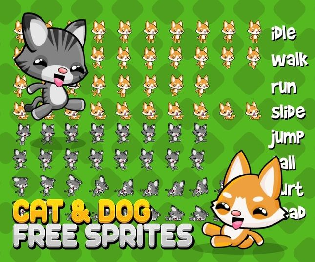 Free character sprite for side scrolling adventure game