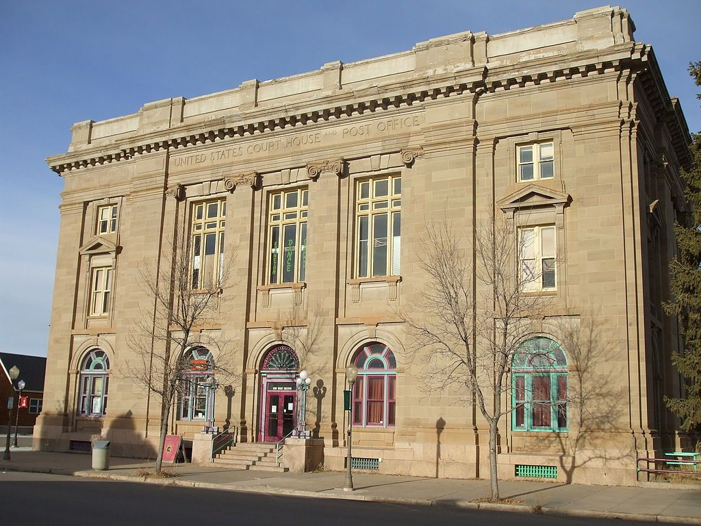 The Evanston Main Post Office In Evanston Wyoming Was Built In 1905 As Part Of A Facilities Impro National Register Of Historic Places Old Post Office Wyoming