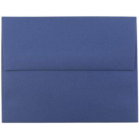 Jam Paper A2 Invitation Envelope 4 3 8 Inch X 5 3 4 Inch Presidential Blue 1000 Carton Size 4 375 X 5 75 Jam Paper Invitation Envelopes Envelope