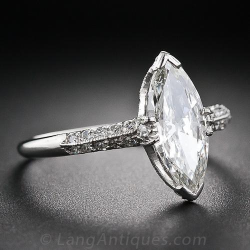 1 36 Carat Marquise Diamond Art Deco Ring 10 1 5989 Lang Antiques Art Deco Diamond Rings Engagement Rings Marquise Marquise Diamond