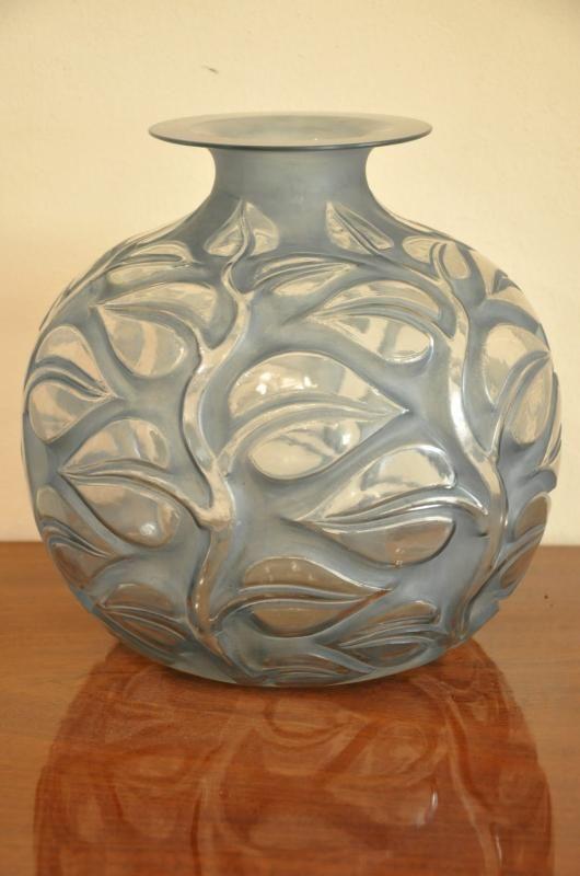 Ren Lalique Vase Sophora Blue Patina Art Deco 1926 More