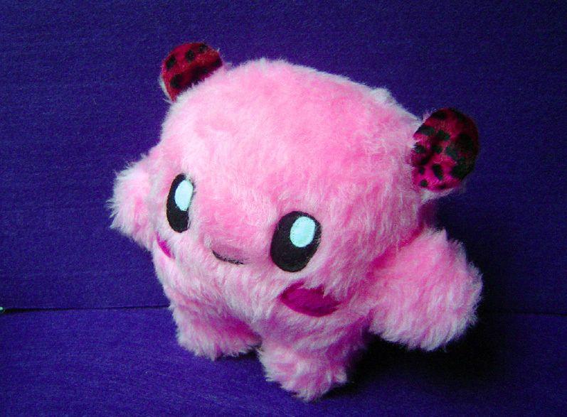 Fluse Kleine Monster Kuschel Kugel Aus Hochwertigem Kuschel Plusch In Pink Einzelstuck Unikat Nach Eigener Vorlage Hergestellt Plusch Monster Kuscheln