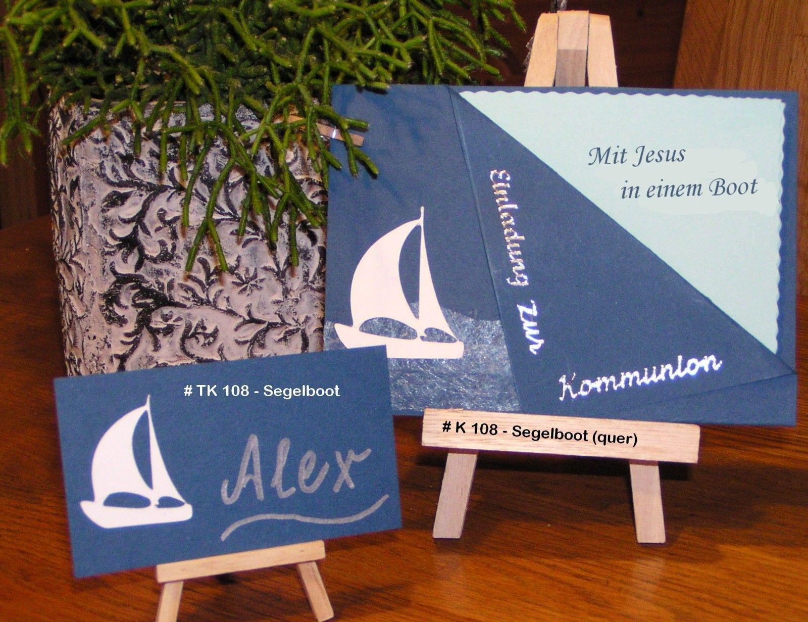 Einladung / Danksagung Kommunion Konfirmation SCHIFF BOOT Fotokarton,  Papier | EBay