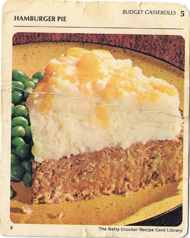Betty Crocker Recipe Card File Hamburger Pie A Family Favorite Betty Crocker Recipes Hamburger Pie Hamburger Pie Recipes