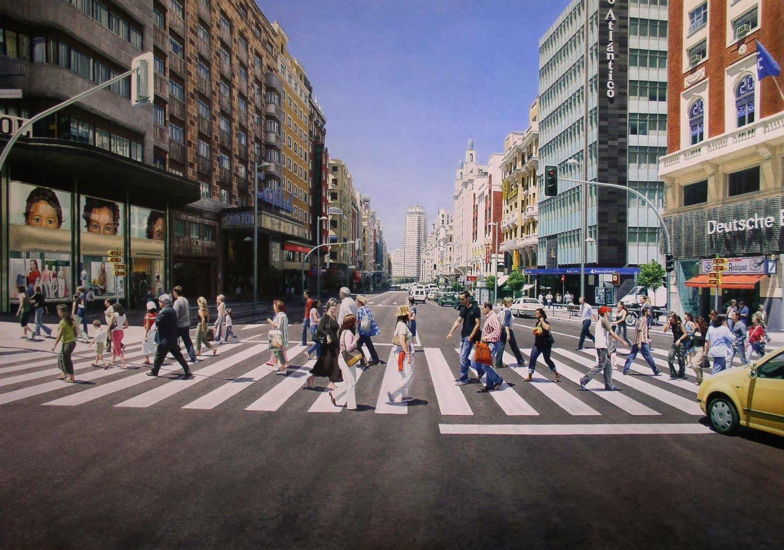 Gran Vía (Madrid) & España. Artista: Christian Pignol -カイ-