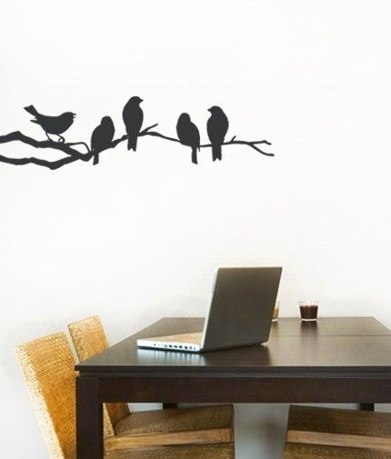 CREATIVE DESIGN Birds Playing Wall Decal Art Home Deco Vynil Office Living Room Front Desk