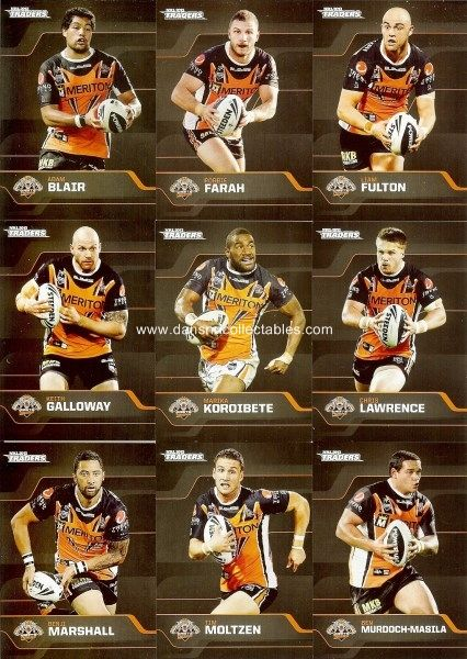 a1d53274172d3e6e6d9b04c30ca4479b 2017 nrl traders wests tigers common team set 10 cards esp tla