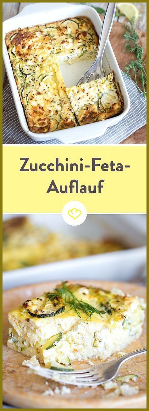 Auflauf mal anders: Fluffiger Zucchini-Feta-Auflauf mit Dill #anders #Auflauf #Dill #Fitness food lu...