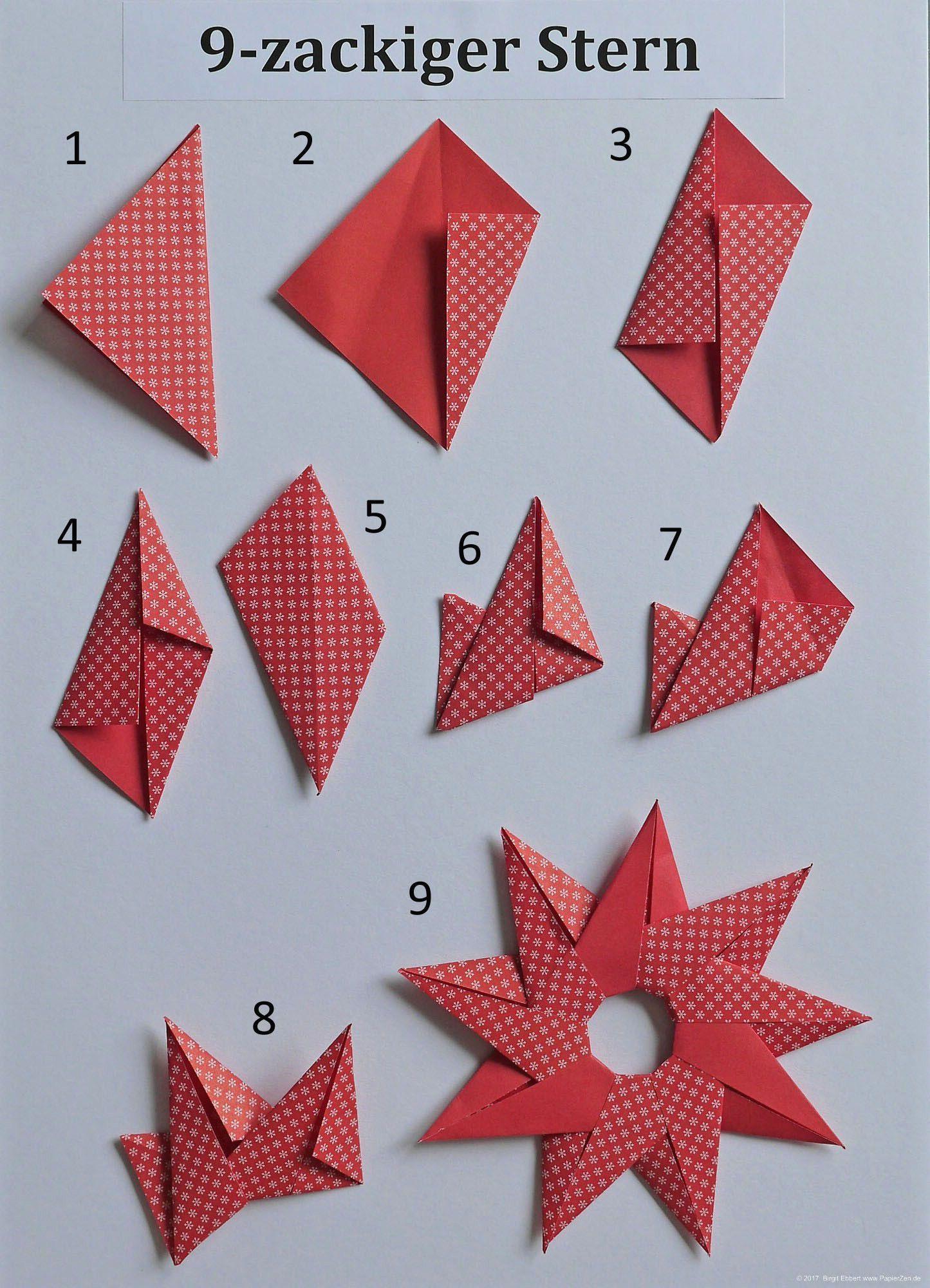 Papiersterne Basteln Origami Stern Basteln Mit Papier Modulen