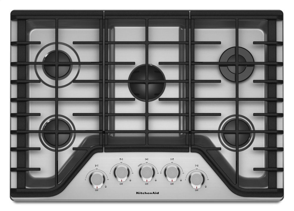 Kcgs350ess Kitchenaid 30 5 Burner Gas Cooktop Stainless Steel Stainless Steel C C Audio Video And Appliance In 2020 Gas Cooktop Kitchen Aid Gas Stove Top