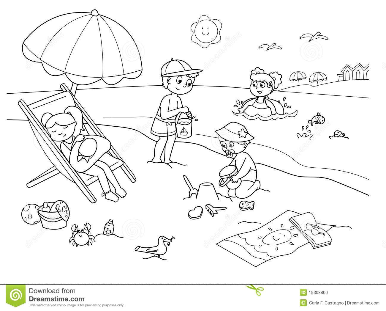 This Beach Day Coloring Page Is The Perfect Addition To Your Summer Fun Activity Pack Simply Print And Staple Activities