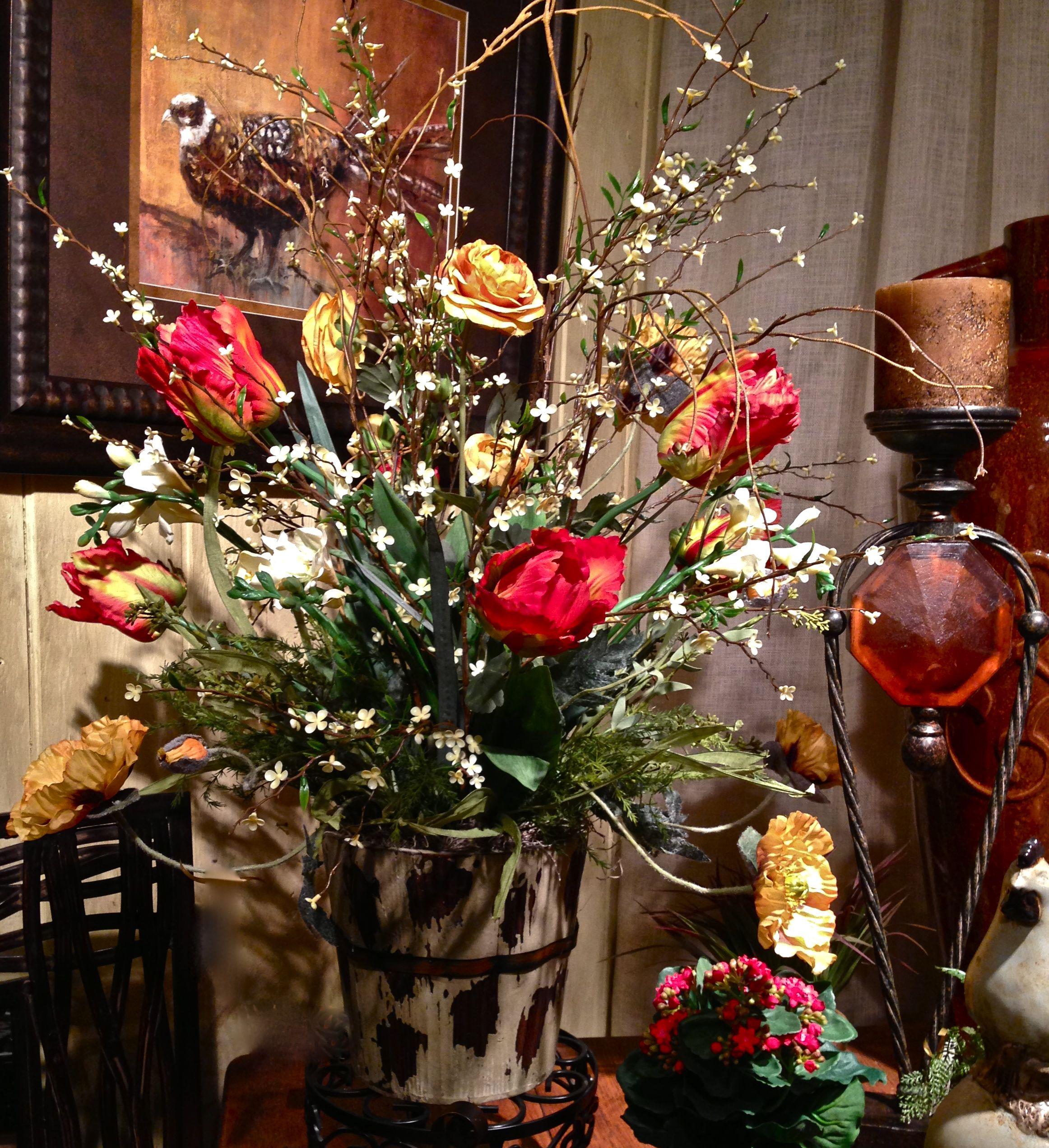 Spring Mix Wild Petals Antiques Home Accessories Custom Silk