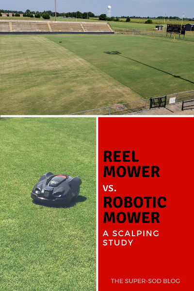 Scalping Happens When You Mow Off Too Much Of The Grass Blade At Once And Causes Browning On The Lawn See The Results Reel Mower Robotic Lawn Mower Lawn Mower