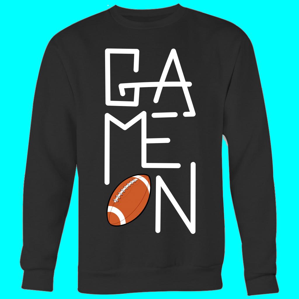 FOOTBALL GAME-ON SWEATSHIRT – Crewneck Sweatshirt Big Print / Black / 2XL