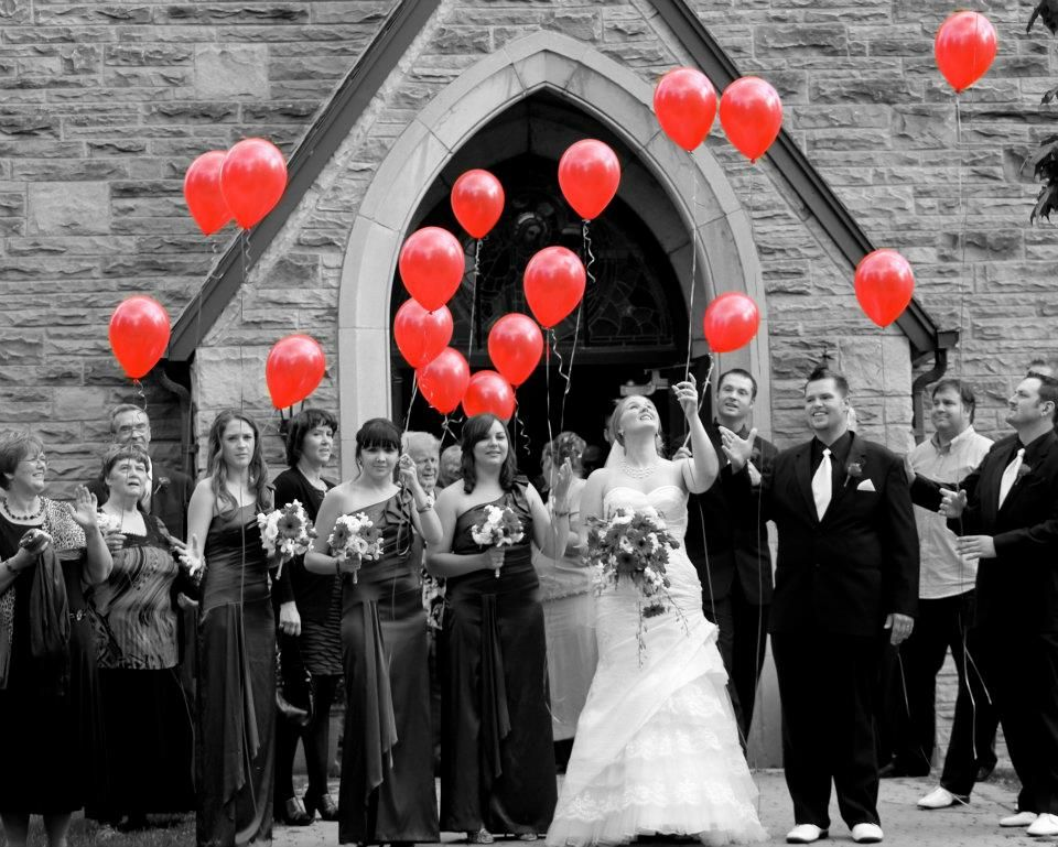 I Want Everyone To Have Red Balloons As We Leave The Church And Song 99 Playing Such An Awesome Celebration