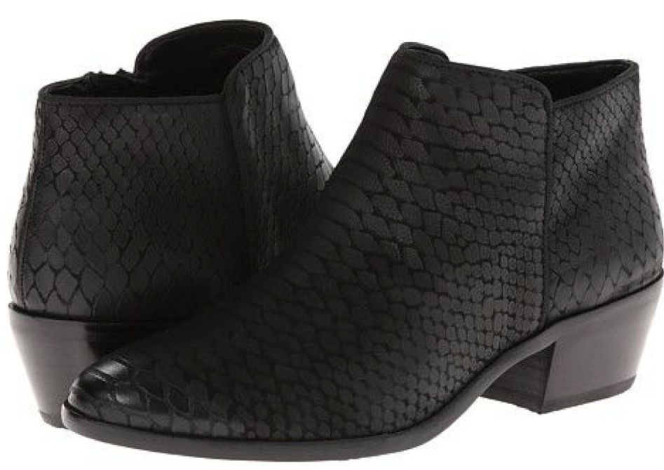 285279686ffb10 Sam Edelman  135 Petty Ankle Boot in Black Tequila Snake